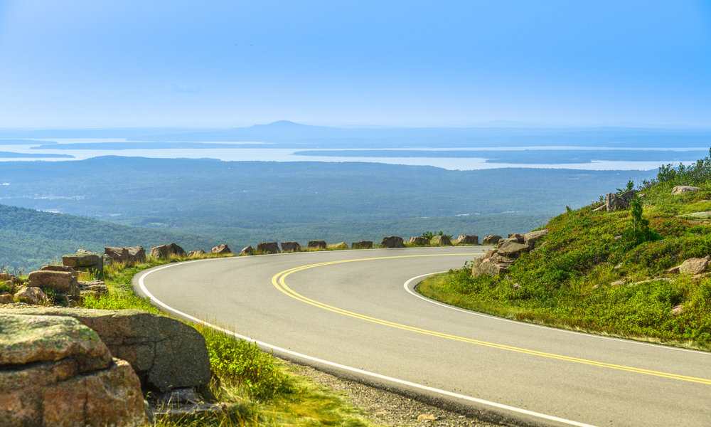 Cadillac Mountain drive in Acadia National Park