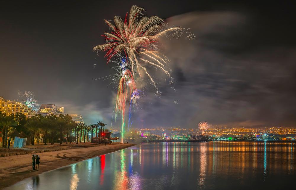 Watch sparkling fireworks