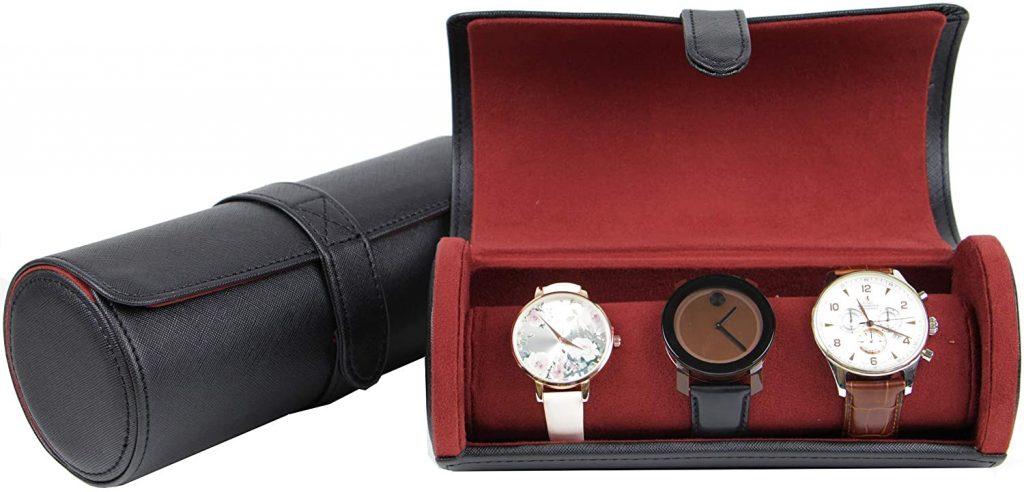 14. Decorebay Rich Man Roll Style Travel Watch Case and Organizer