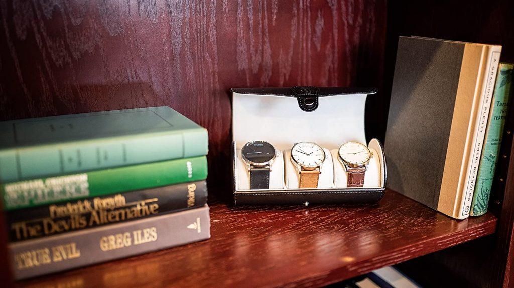 Case Elegance Vegan Leather Travel Watch Case Roll