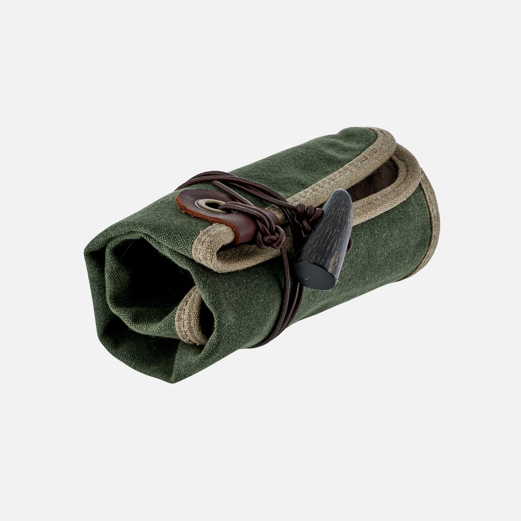 Hodinkee Green and Brown Waxed Canvas Roll