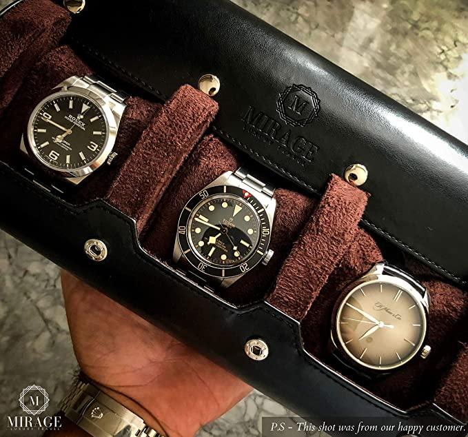 M Mirage Watch Roll Travel Case