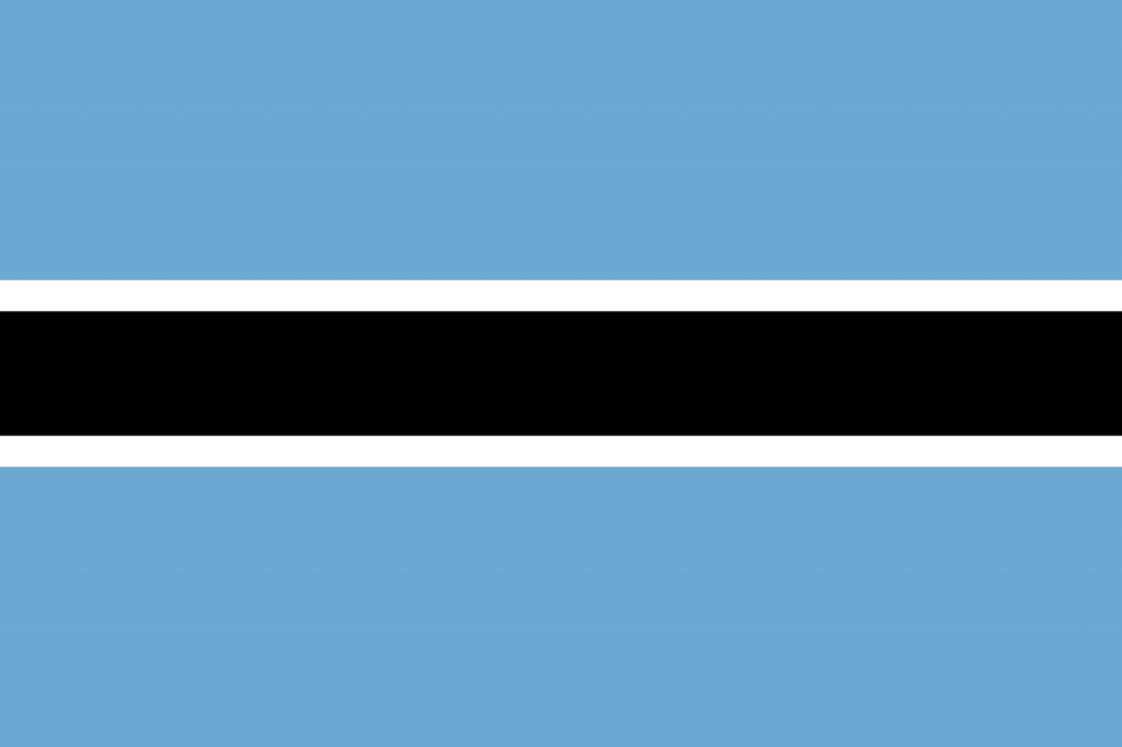 The national flag of Botswana